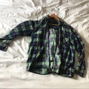 Oversized boyfriend flannel size M